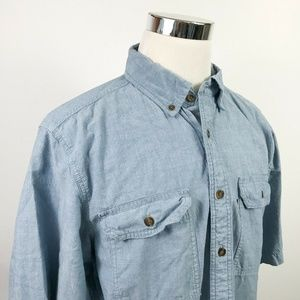 Carhartt Mens LT Relaxed Fit Blue Chambray Shirt